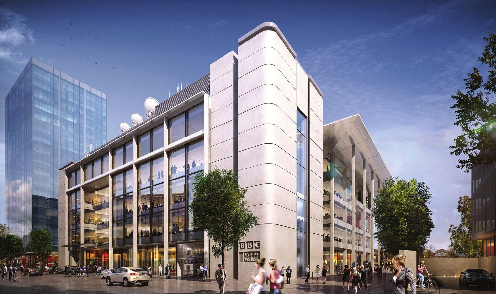 New Contract for Granite Paving around BBC Wales HQ in Cardiff