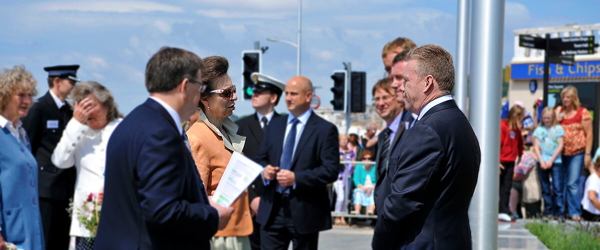 Princess Anne visits our new Square